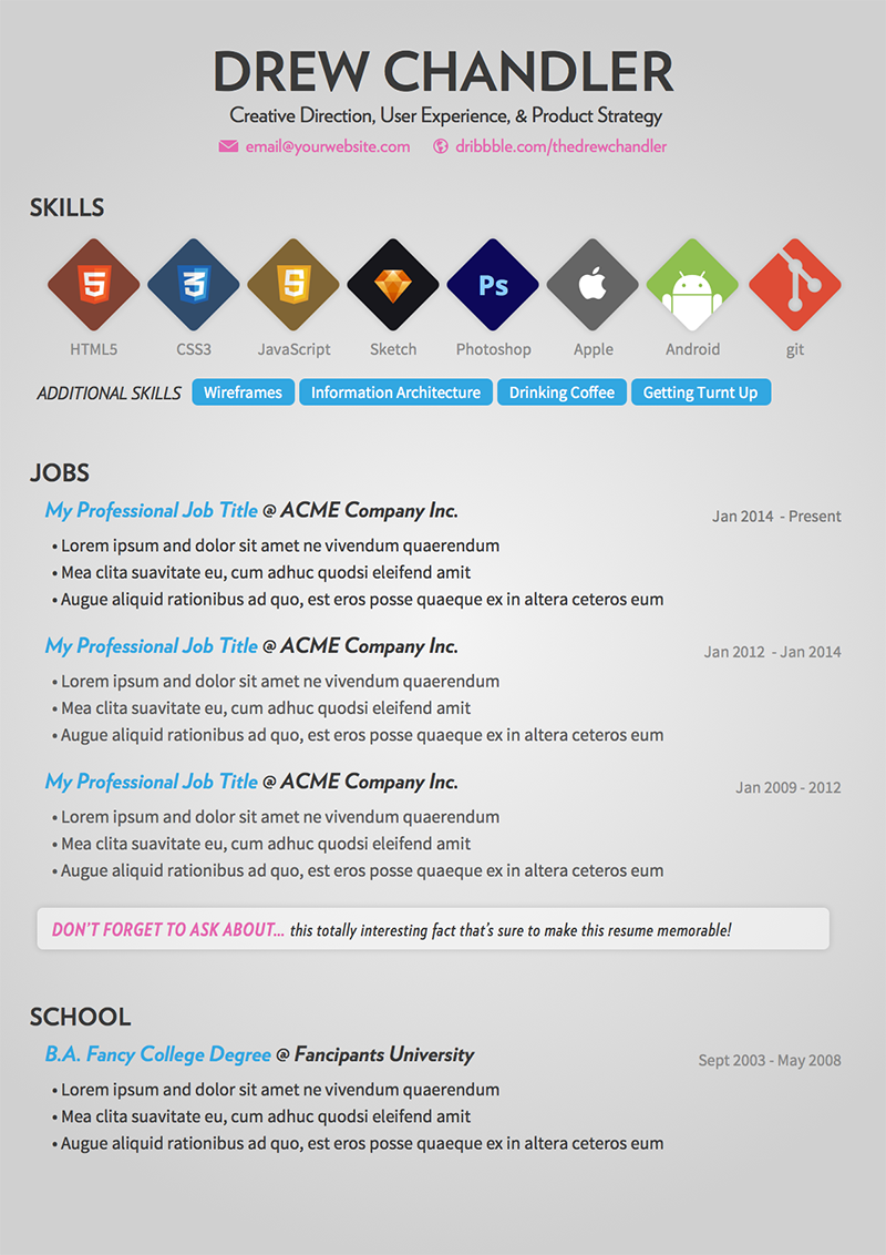 5 Free Extremely Professional Resume Templates Collection 2014 - A ...