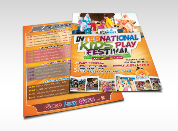 Kids Play Flyer