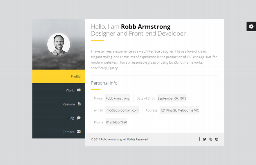 Premium Layers – WordPress vCard & Resume Theme