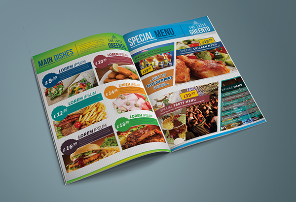 Restaurant & Cafe Menu Template 2