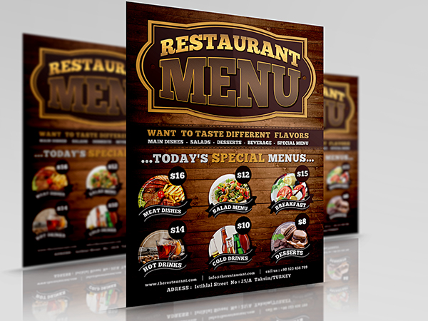 Texas Restaurant Flyer