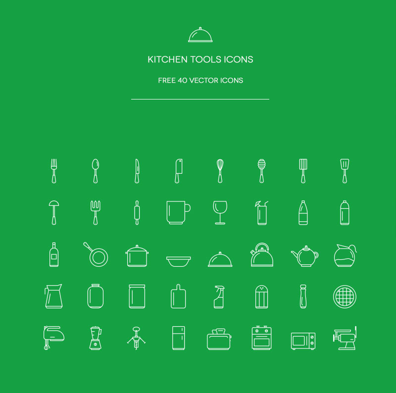 40 Free Kitchens Icons 2015