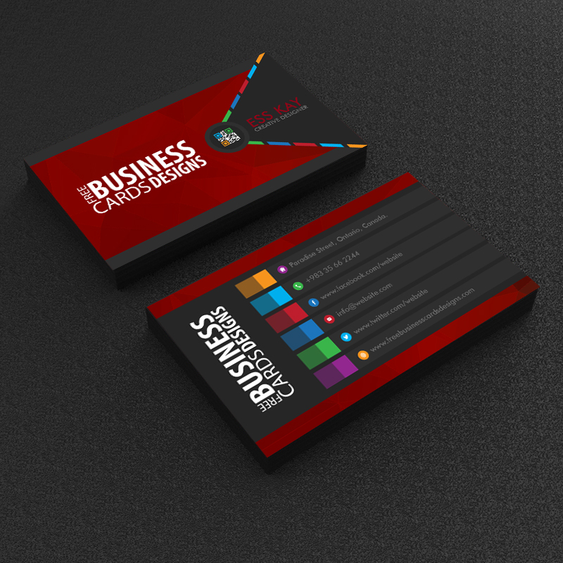 75 free business cards a graphic world free creative polygon business card design reheart Image collections