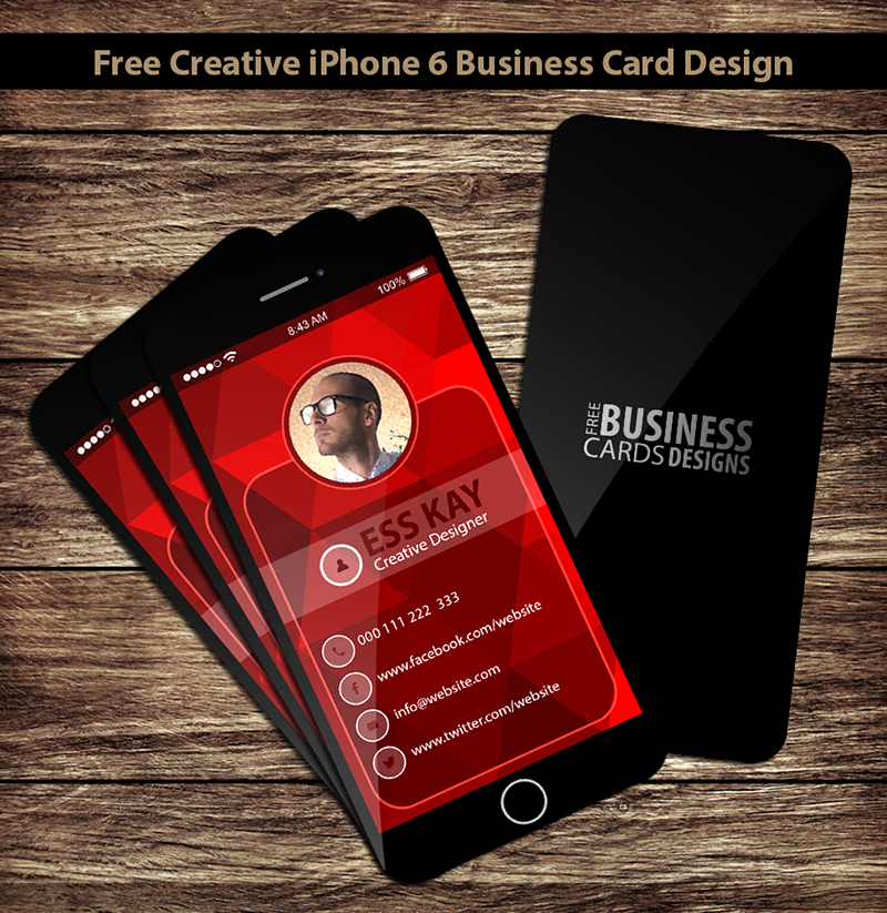 Beautiful Business Card Iphone App Pattern - Business Card Ideas ...
