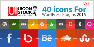Free 40 Icons For WordPress Plugins Vol-1