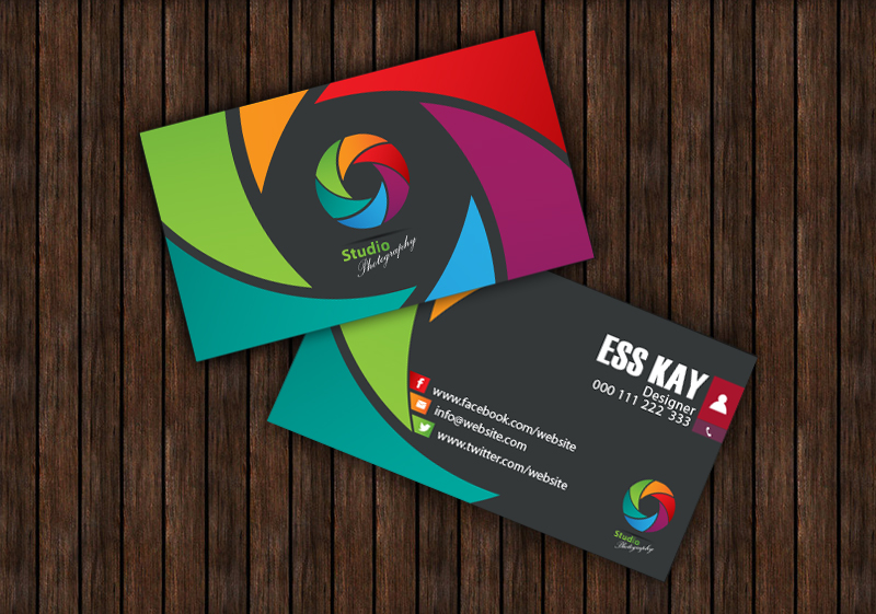 75 free business cards a graphic world studio photography creative business card template design for photographers accmission Choice Image