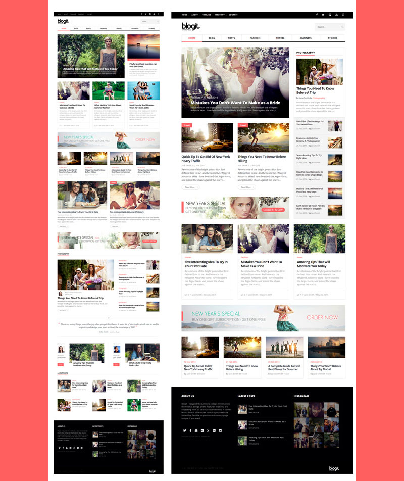 Blogit - Clean Blog Magazine WordPress Theme