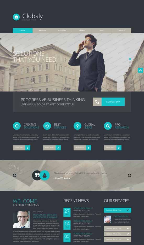 55+ Best Free WordPress Themes For Blogging 2015 - A Graphic World
