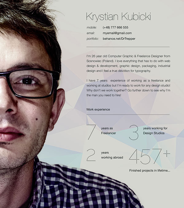 Free CV-Resume Template Design For Creative Designers 2
