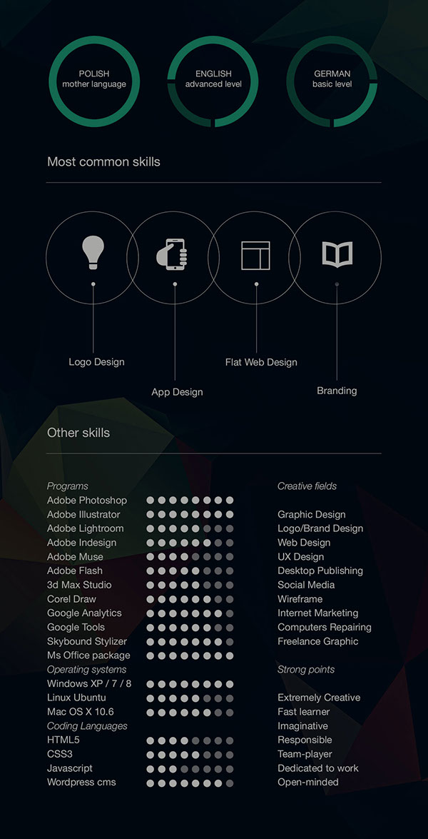 Free CV-Resume Template Design For Creative Designers 3