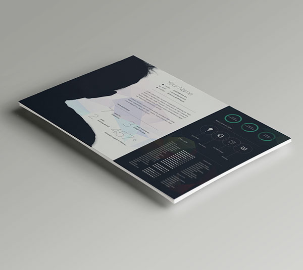 Free CV-Resume Template Design For Creative Designers 5