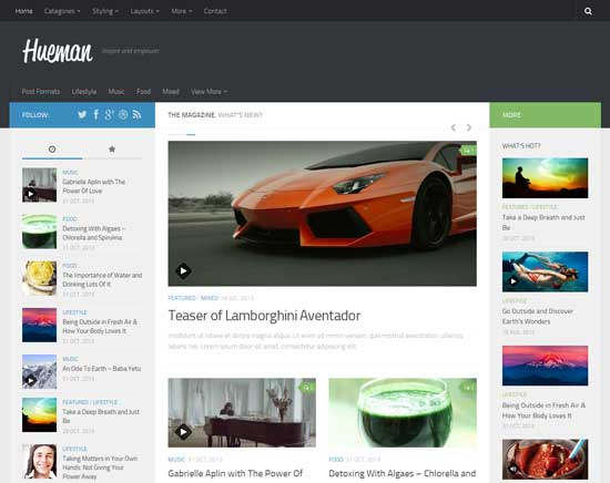 Free Hueman Responsive WordPress Theme