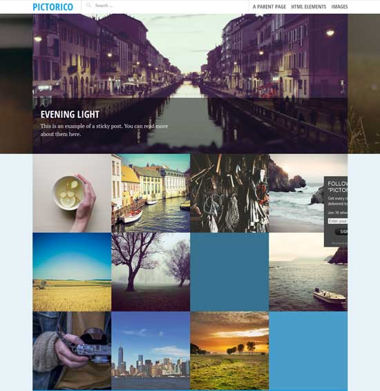 Free Photo Pictorico WordPress Theme