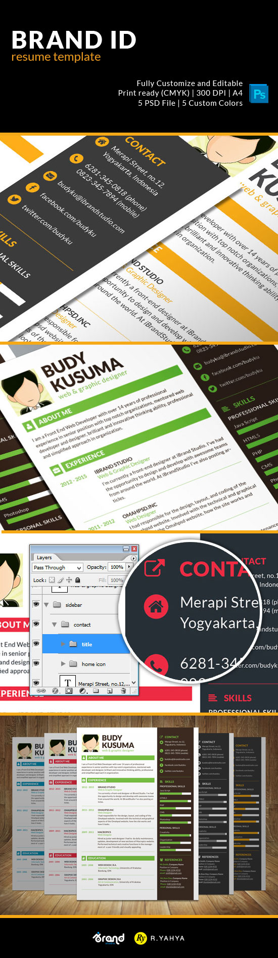 Free Resume Designs For Web and Graphic Designers
