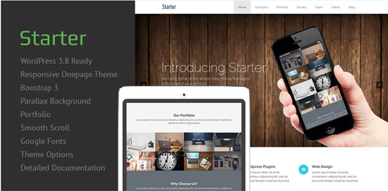 Free Starter Responsive WordPress Theme