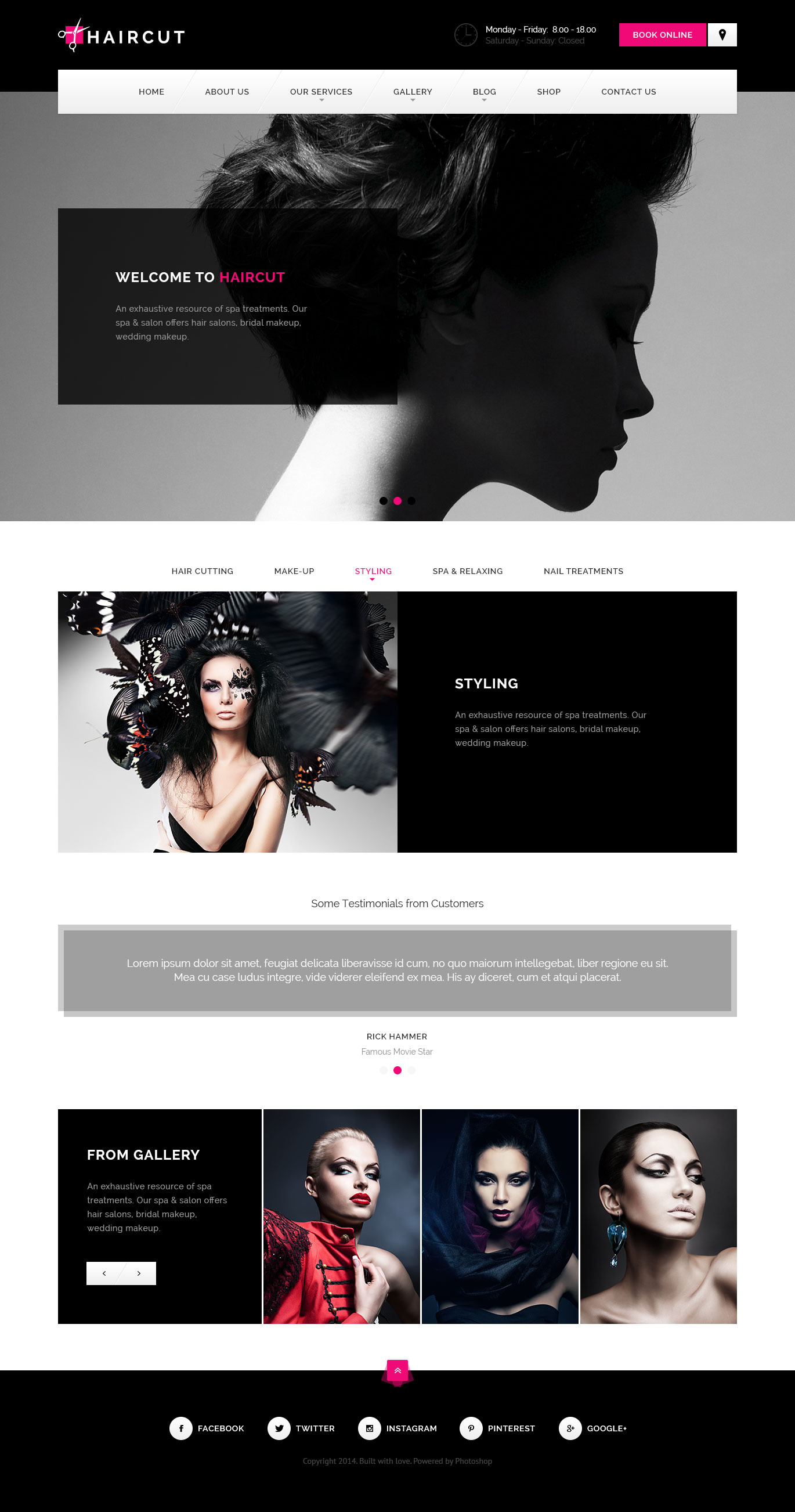 Haircut - Barbershop, Spa, Beauty, Manicure WP WordPress Theme