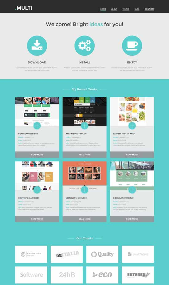 Multi Free Web Design WordPress Theme