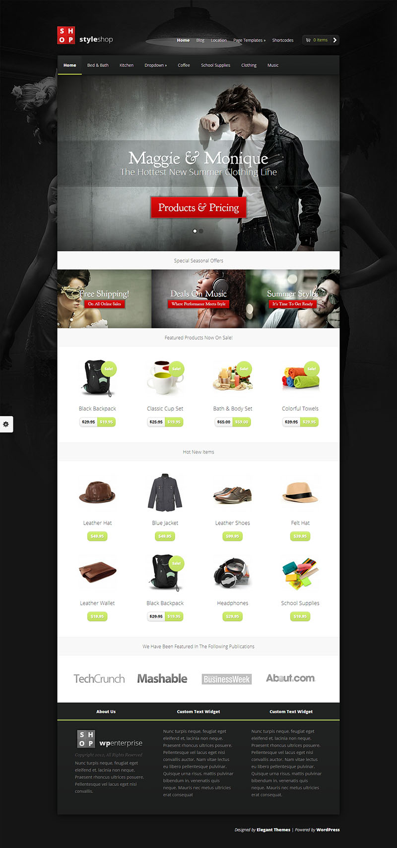 StyleShop eCommerce WordPress Theme