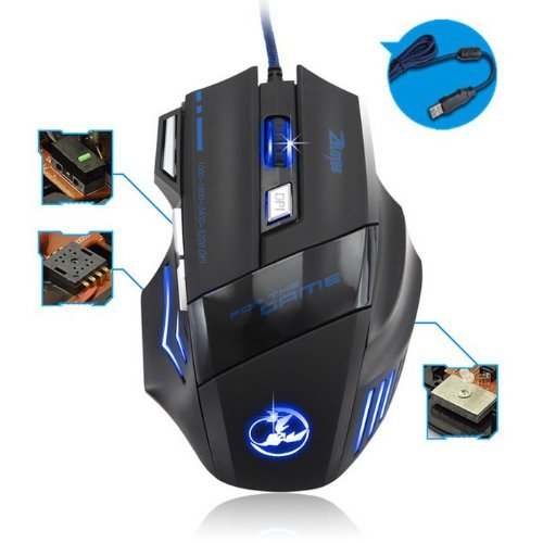 Zelotes 5500 DPI 7 Button LED Optical USB Wired Gaming Mouse 3