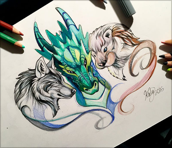 Amazing  Drawing by Katy Lipscomb-1 (11)