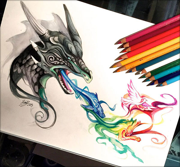 Amazing  Drawing by Katy Lipscomb-1 (21)