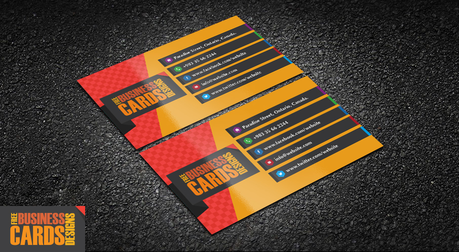 Download Free Elegant Business Card Template - Construction business card templates download free