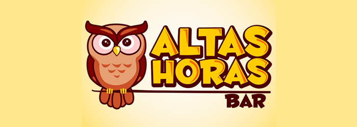 Altas Horas Bar logo illustration