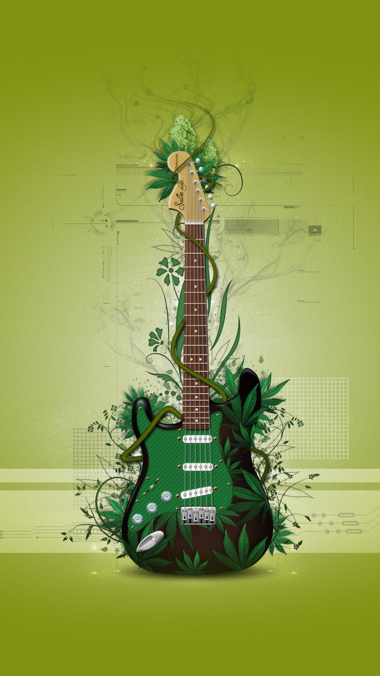 Cool-Green-Guitar-iphone-6-wallpaper-Latest-2015