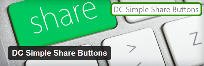 DC Simple Share Social Media SEO Buttons