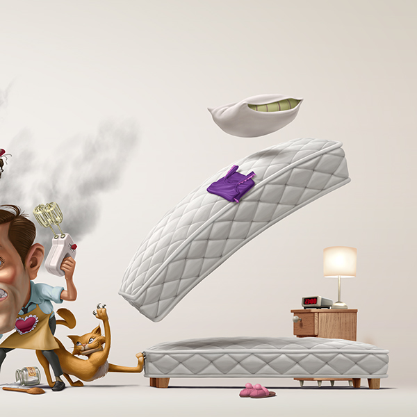 Digital Art Advertising Communication Design of Celeste Spring Mattress 2015 (4)