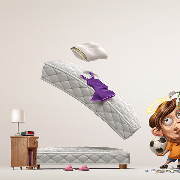 Digital Art Advertising Communication Design of Celeste Spring Mattress 2015 (5)