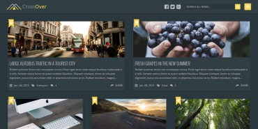 Free Bootstrap Dark Homepage CrossOver Theme 2015