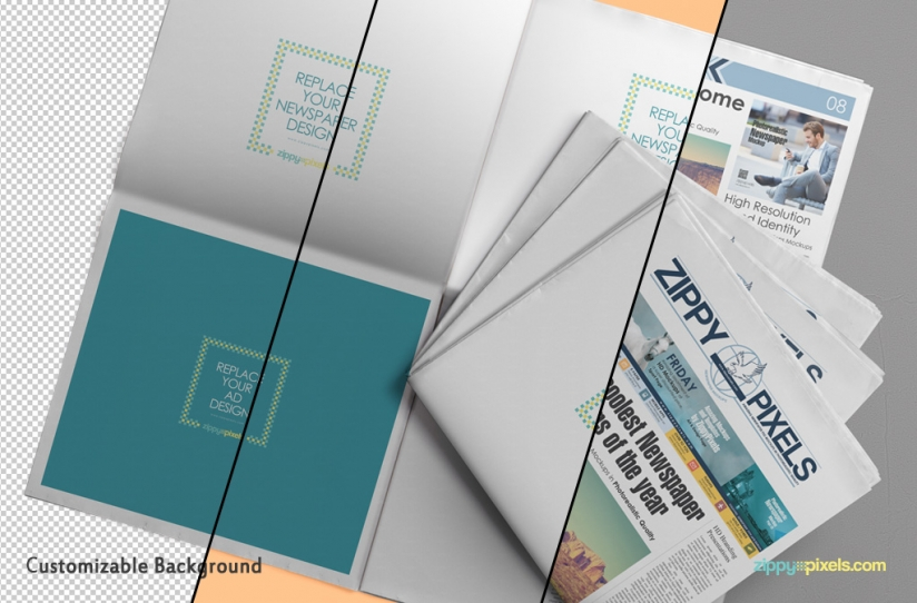 Free Newspaper Press Ad Mockup For Advertisement 2015 (1)