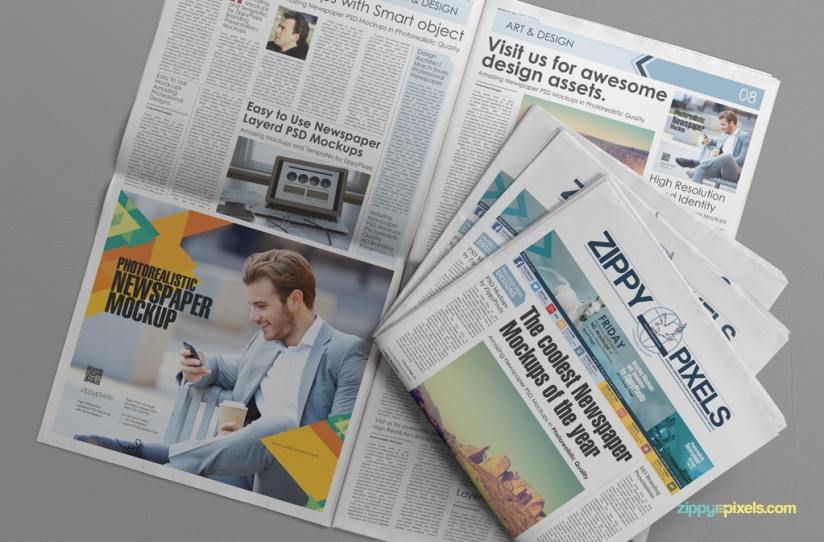 Free Newspaper Press Ad Mockup For Advertisement 2015 (2)