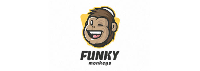 Funky Monkeys logo illustration