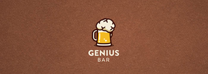 Genius Bar logo illustration
