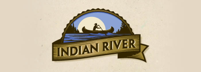 Indian River illustration logo