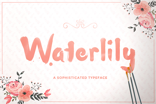 The Beautiful Water Color Stroke Font For Your Artistic Designs 2015 (1)