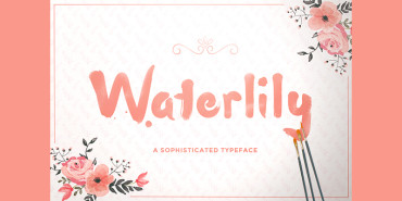 The Beautiful Water Color Stroke Font For Your Artistic Designs 2015