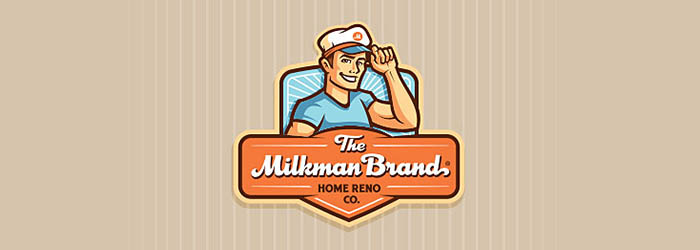 The Milkman Brand logo illustration
