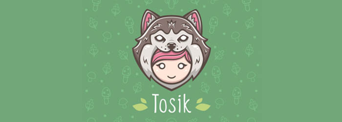 Tosik logo illustration