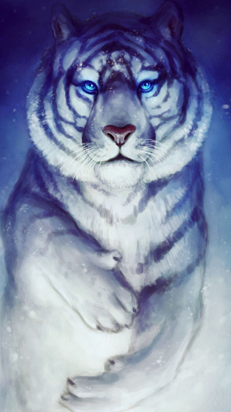 White-Tiger-iphone-6-wallpaper-Latest-2015