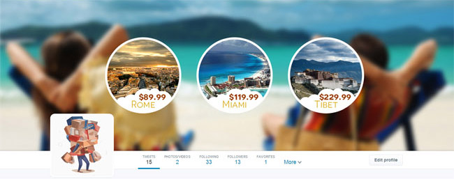 beach travel twitter cover