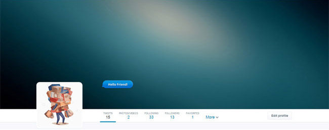 blurred background twitter cover