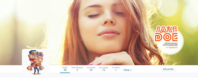 professional photographer twitter cover