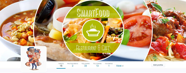 restaurant and cafe twitter cover