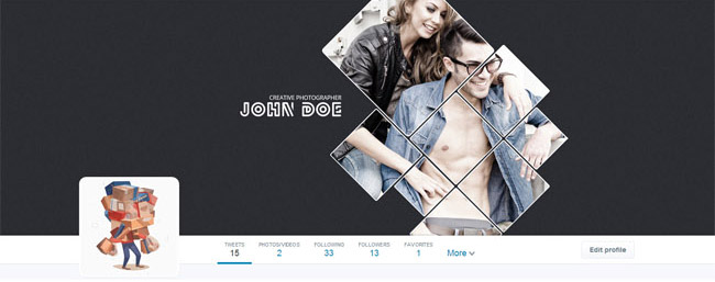 styling twitter cover
