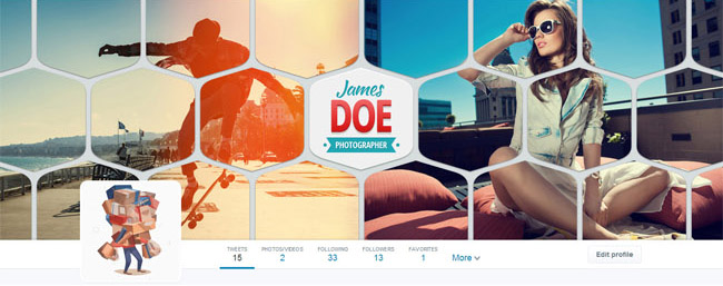 twitter cover for photographers