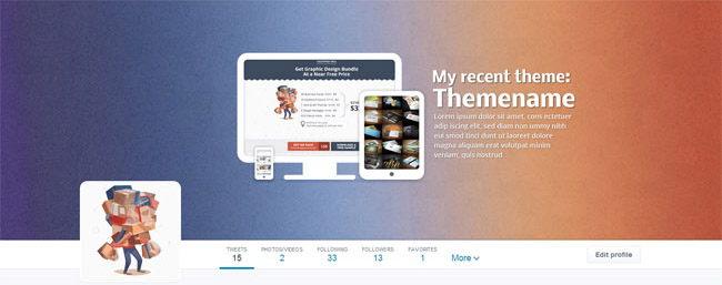 twitter cover for themes