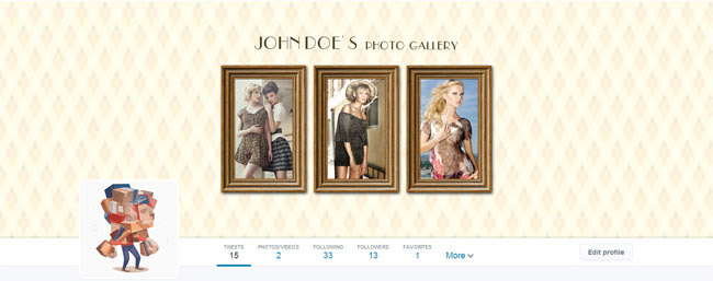 vintage photo gallery twitter cover